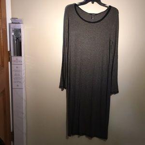 Forever 21 | Long Black & White Striped Dress